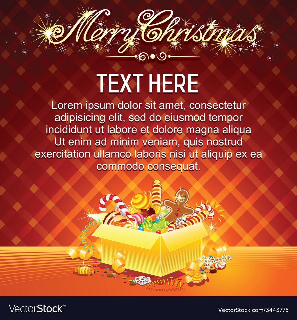 Bright christmas card vector | Price: 3 Credit (USD $3)