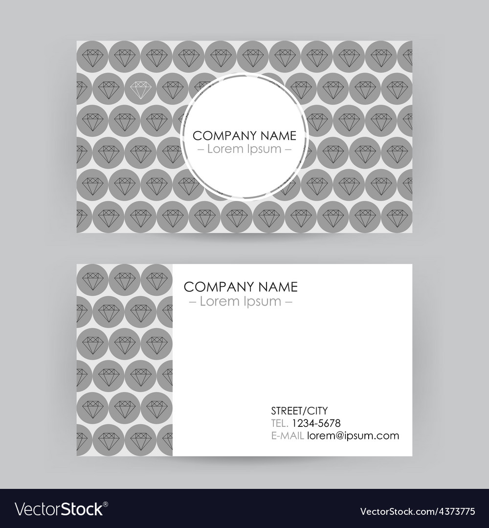 Business card line art diamond background vector | Price: 1 Credit (USD $1)