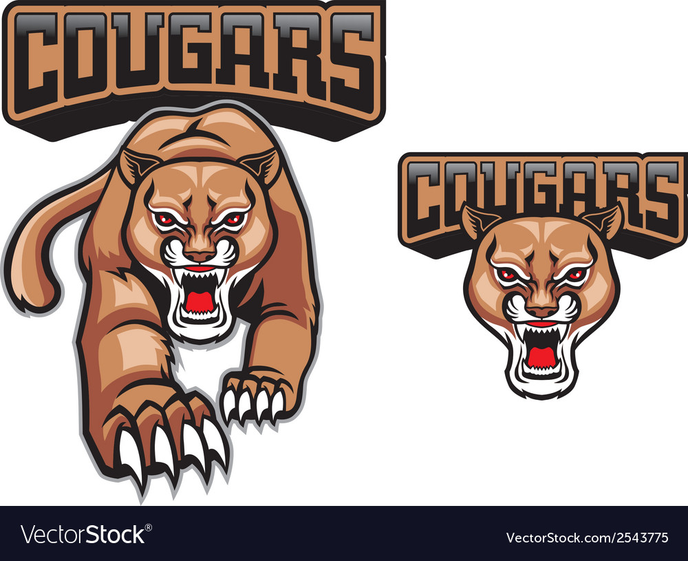 Cougar mascot vector | Price: 3 Credit (USD $3)