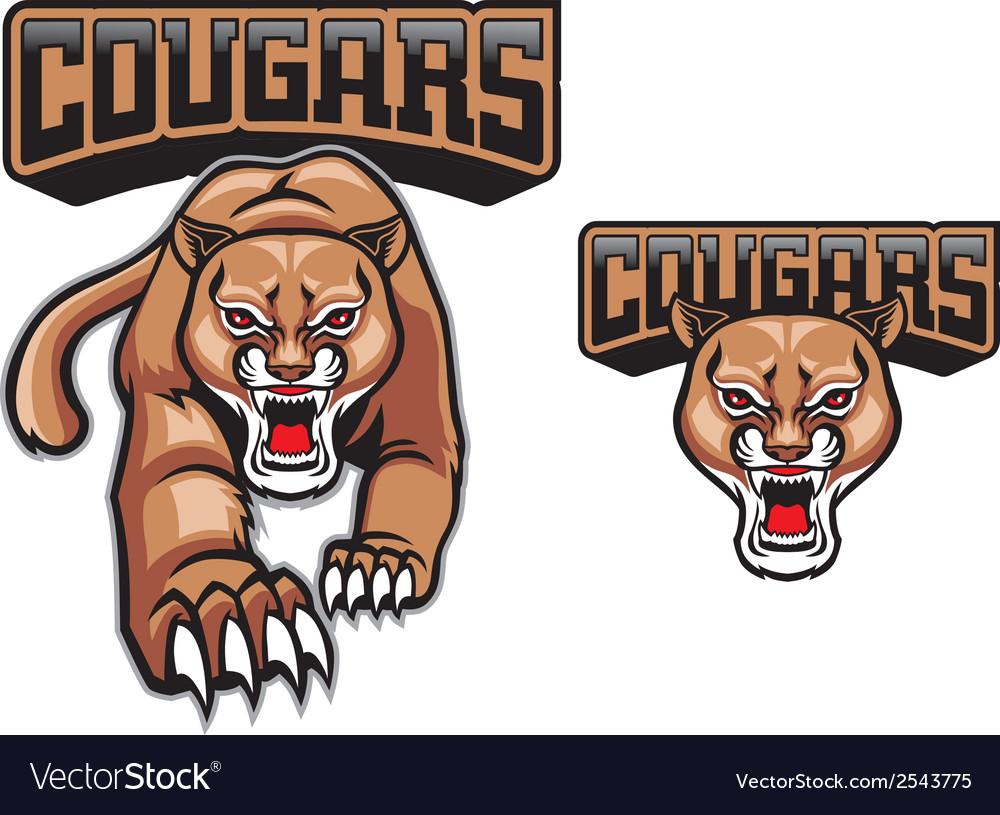 Cougar mascot vector | Price: 3 Credit (USD $3)