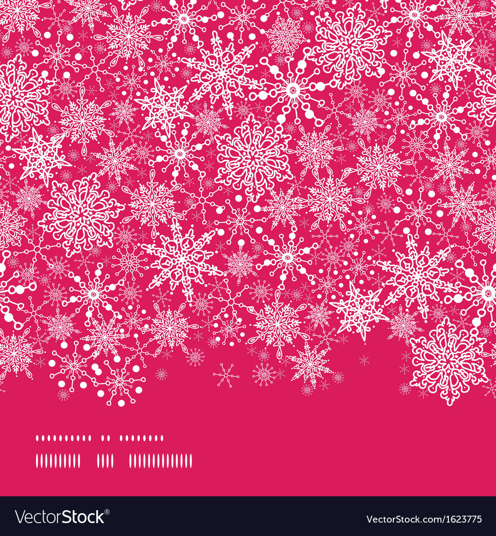 Snowflake texture horizontal border seamless vector | Price: 1 Credit (USD $1)