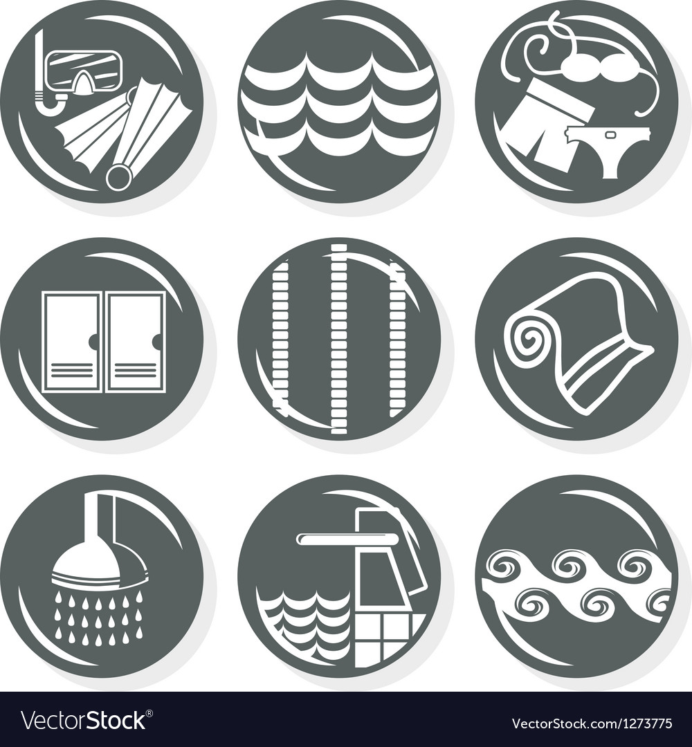 Spa and swimming pool set vector | Price: 1 Credit (USD $1)