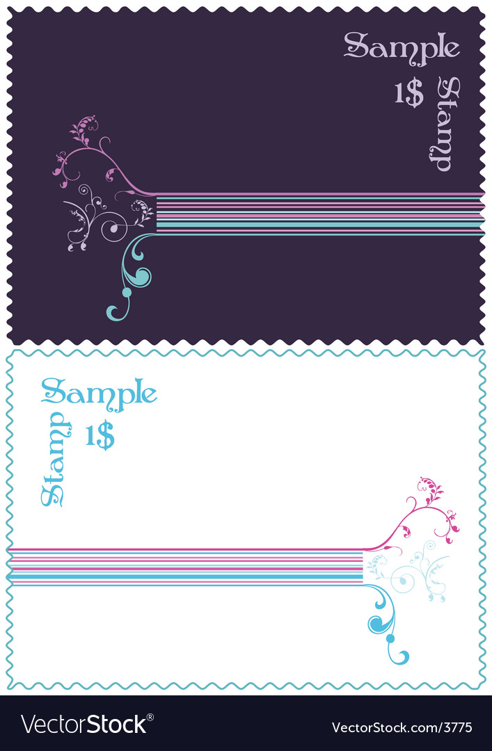 Stamp design vector | Price: 1 Credit (USD $1)