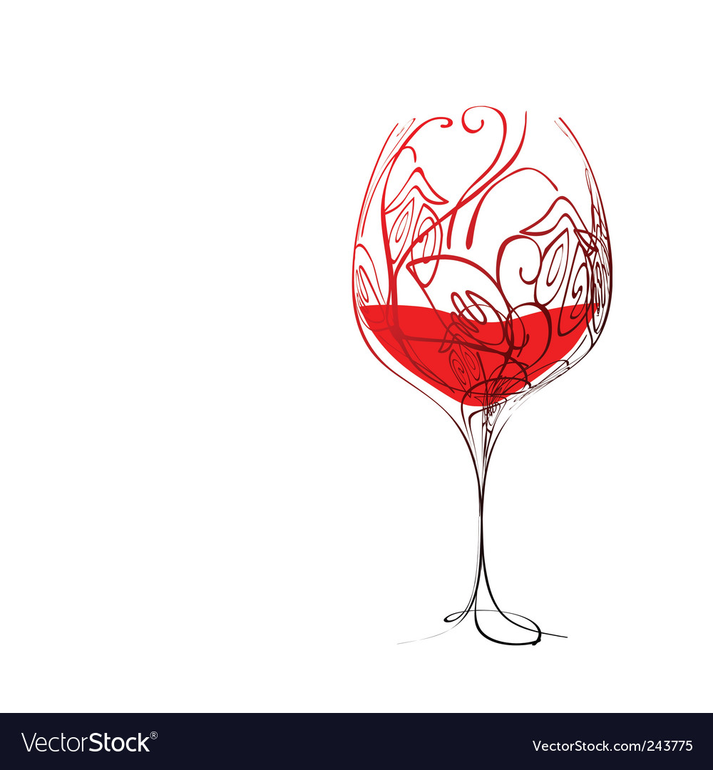 Stylized wineglass vector   Price: 1 Credit (USD $1)