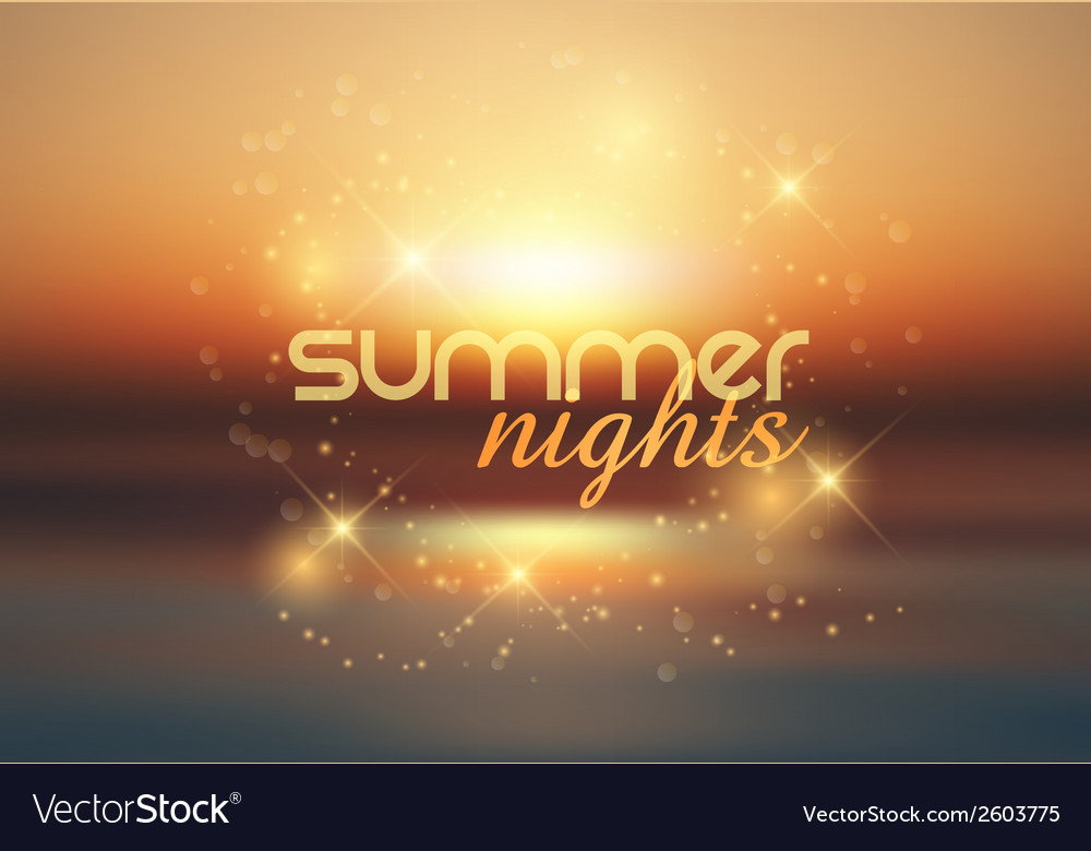 Summer nights background 1407 vector | Price: 1 Credit (USD $1)