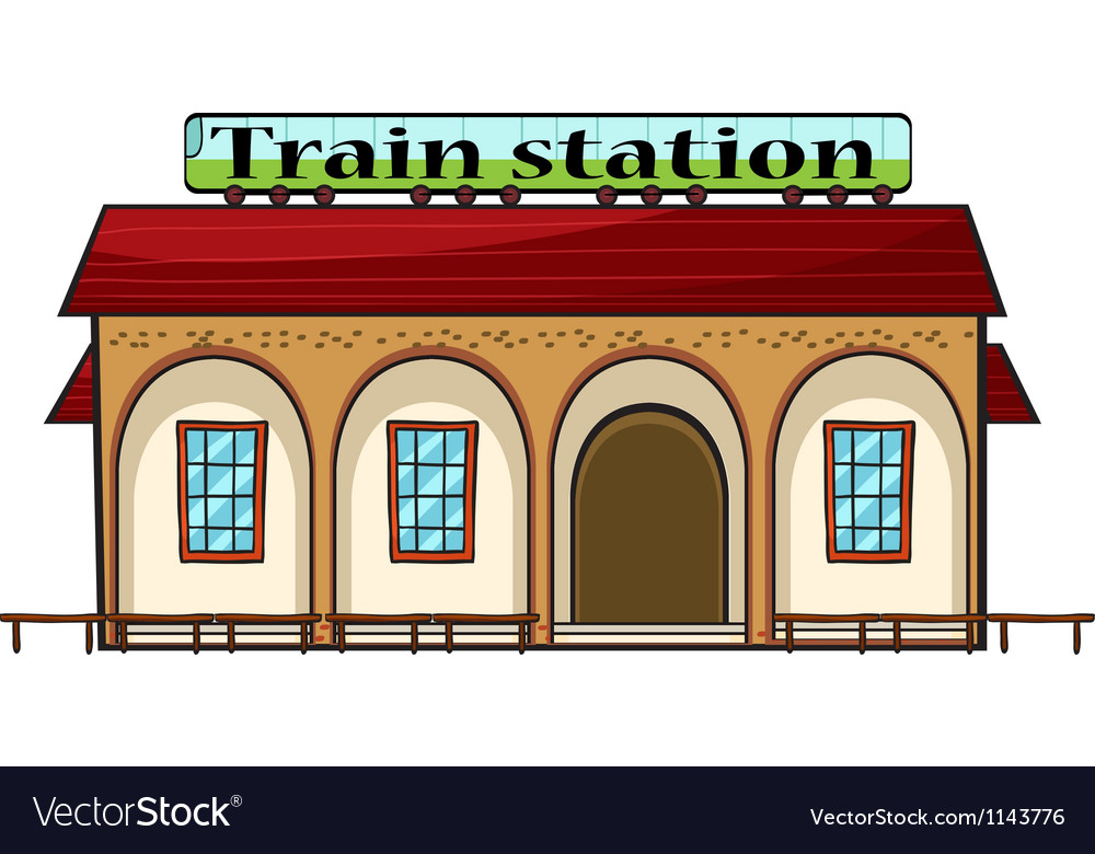 A train station vector | Price: 1 Credit (USD $1)