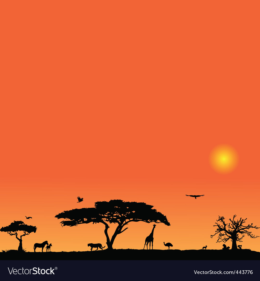 Background with africa vector