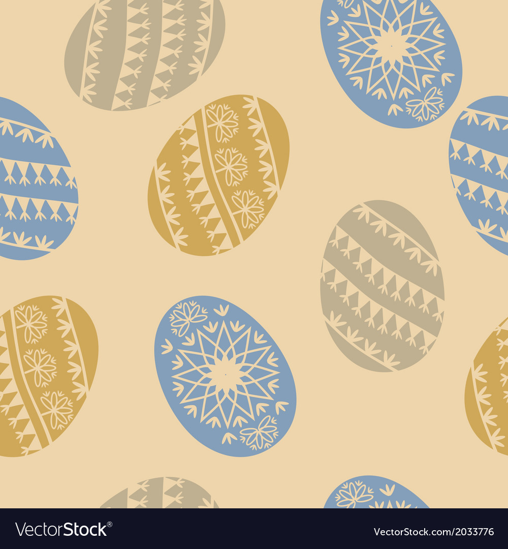 Easter egg seamless pattern vector | Price: 1 Credit (USD $1)