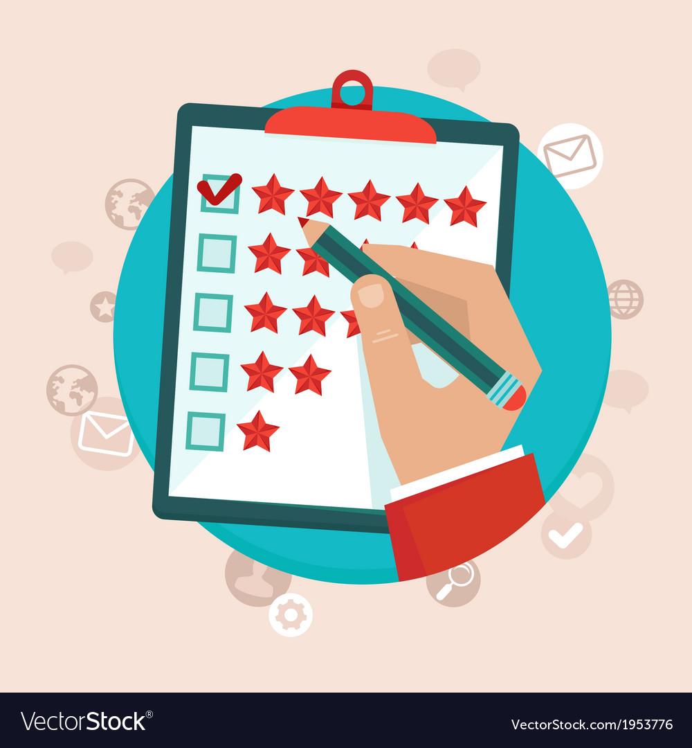 Feedback survey vector | Price: 1 Credit (USD $1)
