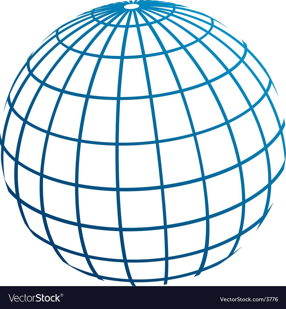 Globe meridians vector | Price: 1 Credit (USD $1)