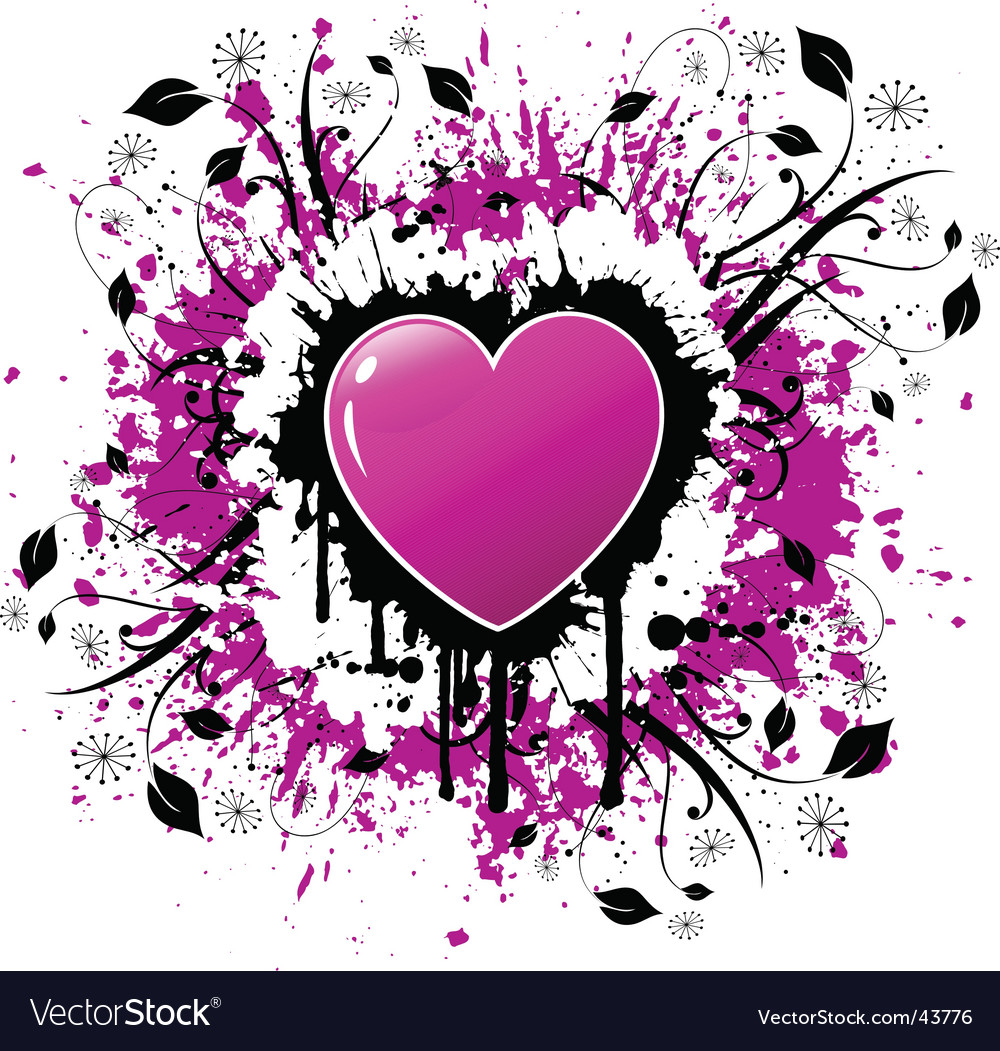 Grunge valentines vector | Price: 1 Credit (USD $1)