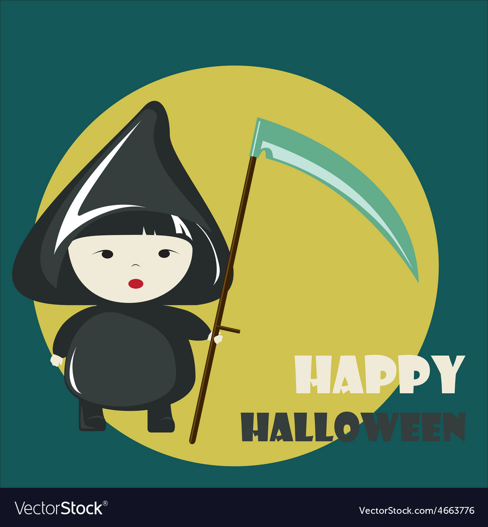 Happy halloween greeting card vector | Price: 1 Credit (USD $1)