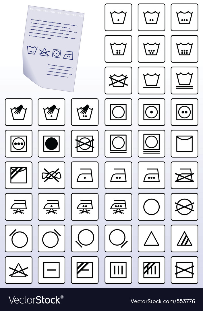 Instruction symbols vector | Price: 1 Credit (USD $1)