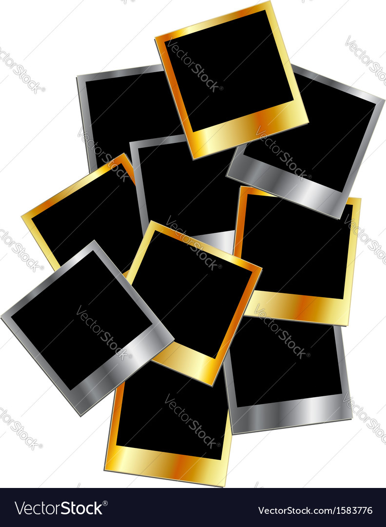 Metallic polaroids vector | Price: 1 Credit (USD $1)