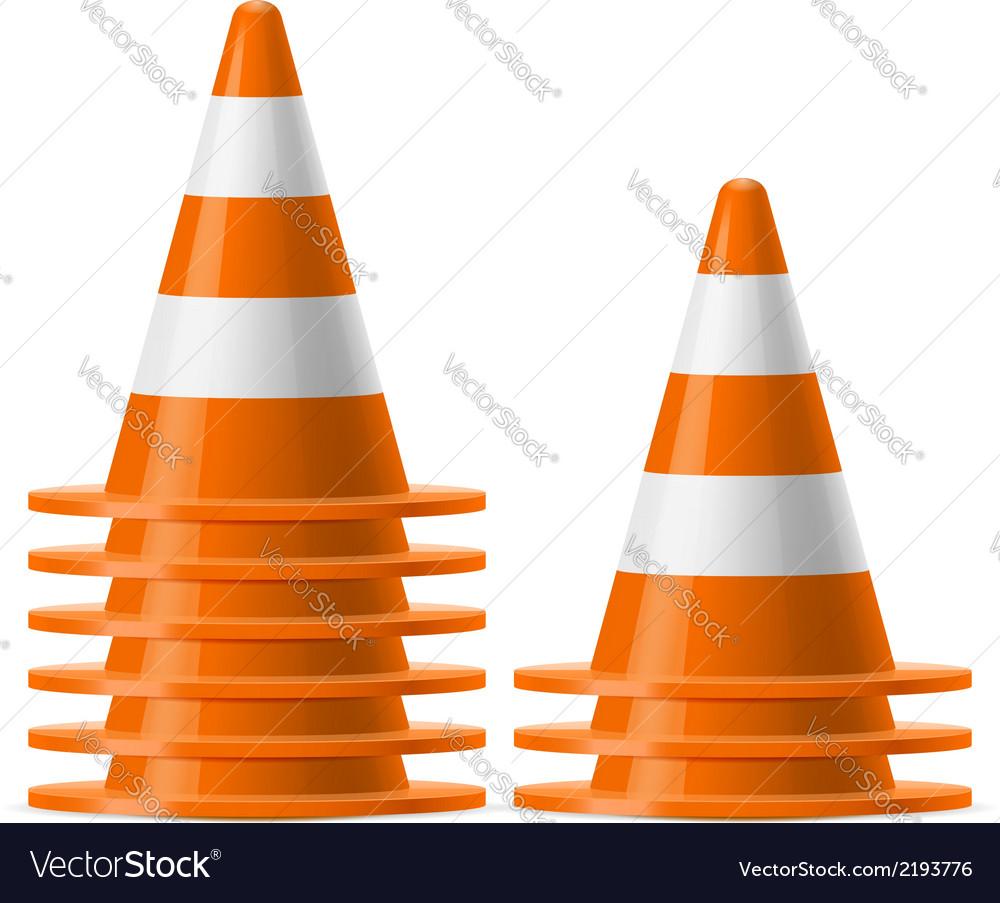 Piles of traffic cones vector | Price: 1 Credit (USD $1)