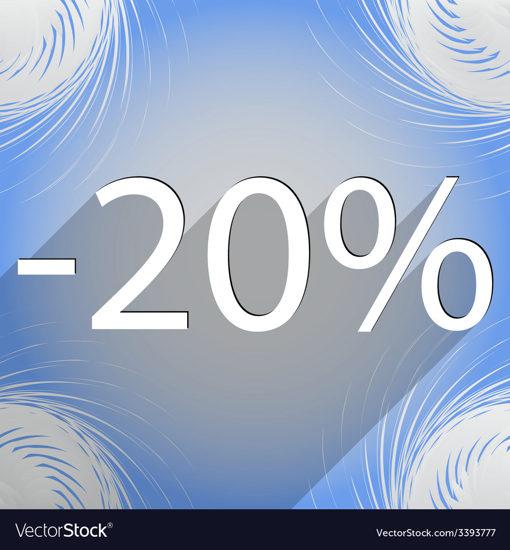 20 percent discount icon symbol flat modern web vector | Price: 1 Credit (USD $1)
