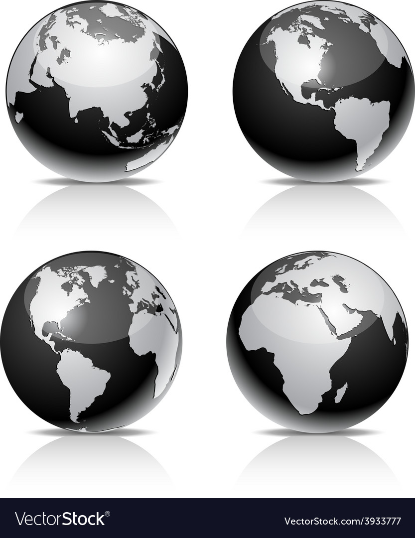 Black earth balls vector | Price: 1 Credit (USD $1)