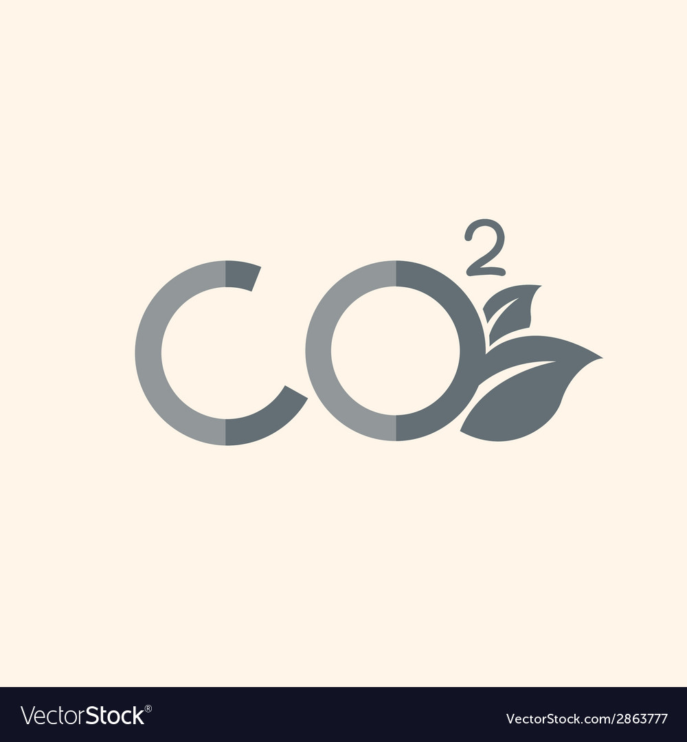 Carbon dioxide flat icon vector | Price: 1 Credit (USD $1)