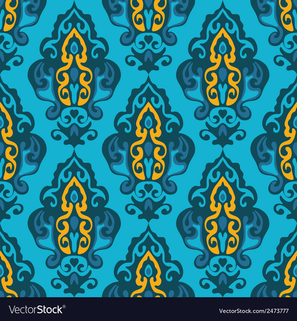 Damask seamless floral vector | Price: 1 Credit (USD $1)
