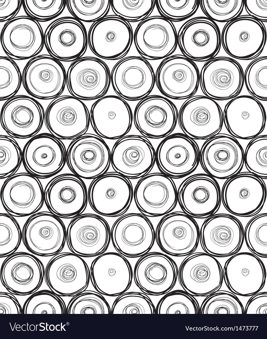 Doodle round seamless vector | Price: 1 Credit (USD $1)