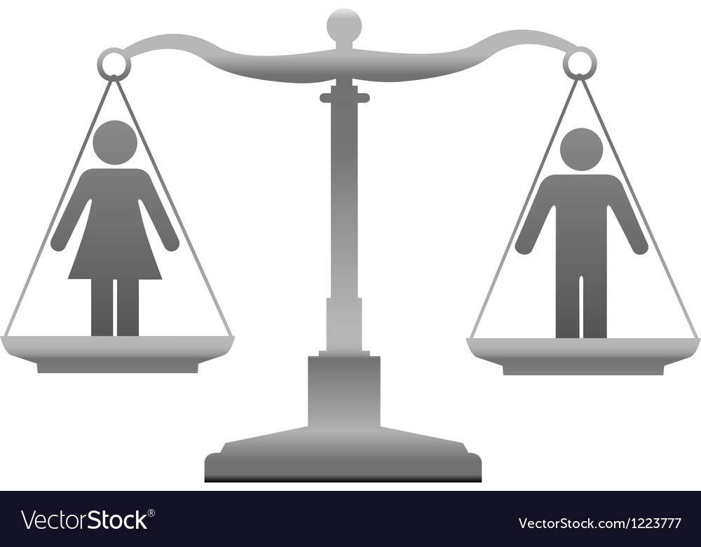 Gender equality sex justice scales vector | Price: 1 Credit (USD $1)