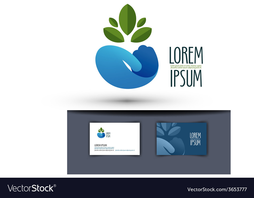 Grower logo design template plant or ecology icon vector | Price: 1 Credit (USD $1)