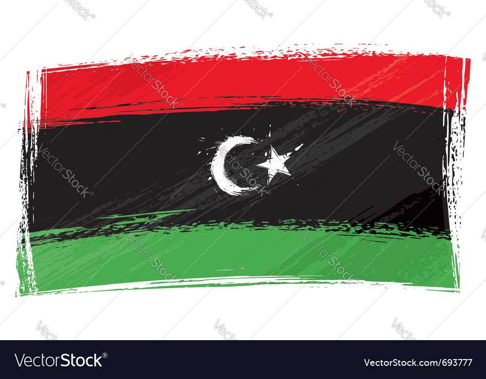 Grunge libya flag vector | Price: 1 Credit (USD $1)