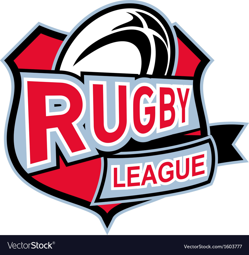 Rugby league ball shield vector | Price: 1 Credit (USD $1)