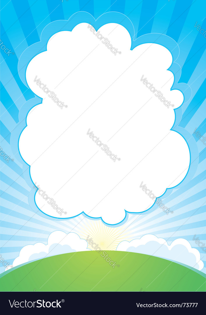 Sunrise with cloud background vector | Price: 1 Credit (USD $1)