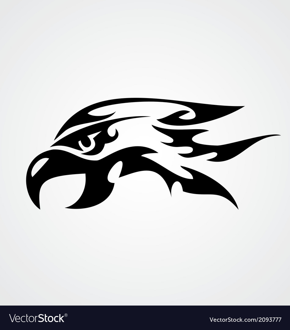 Tribal eagle head vector | Price: 1 Credit (USD $1)