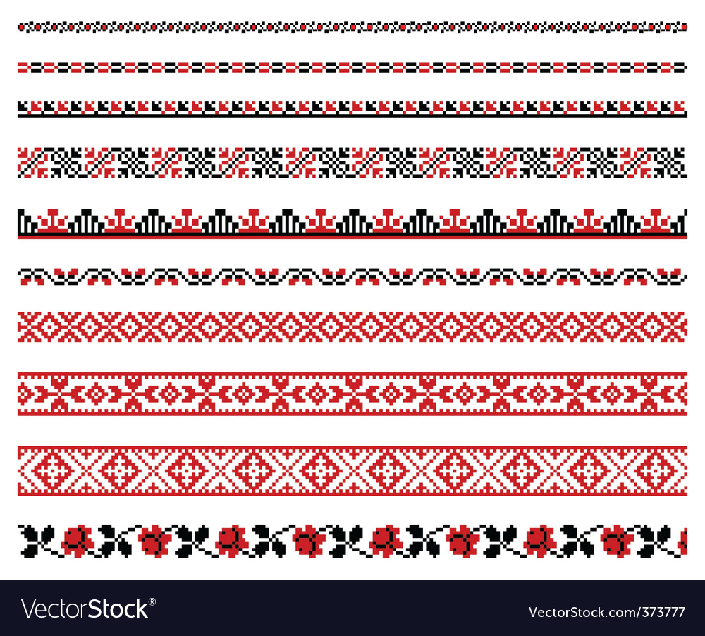 Ukrainian embroidery ornament vector | Price: 1 Credit (USD $1)