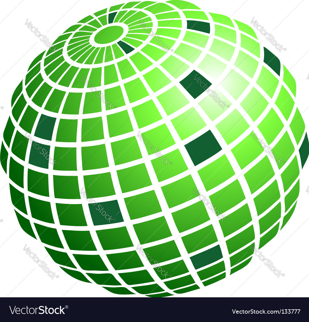 Wire frame globe vector | Price: 1 Credit (USD $1)