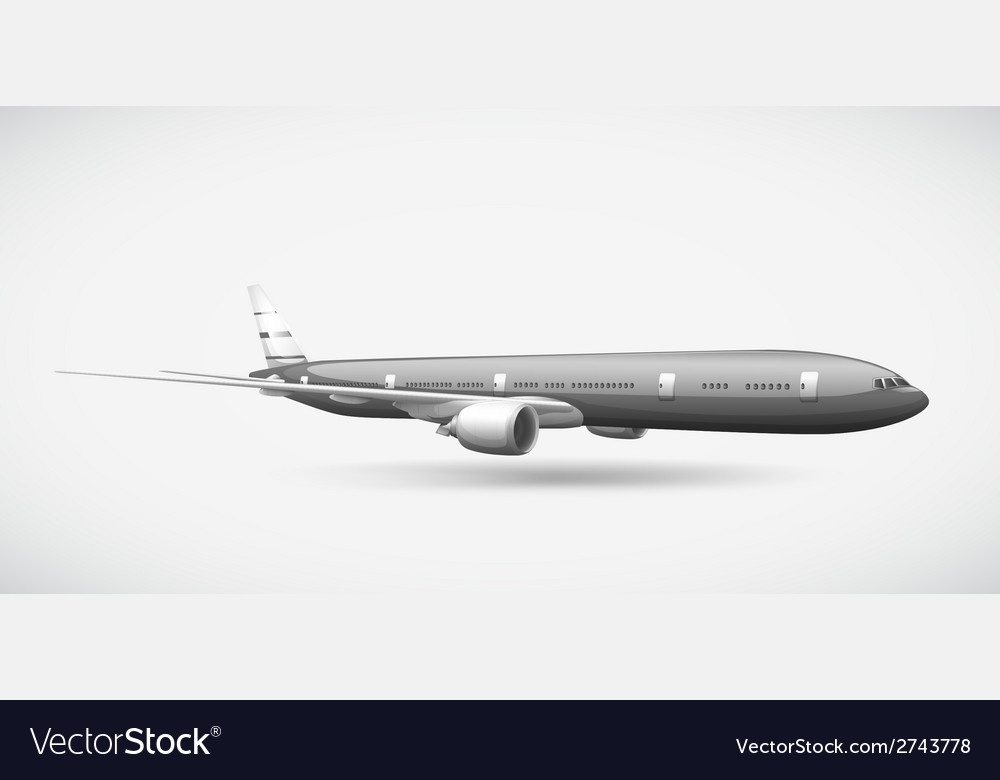 A passenger plane vector | Price: 1 Credit (USD $1)