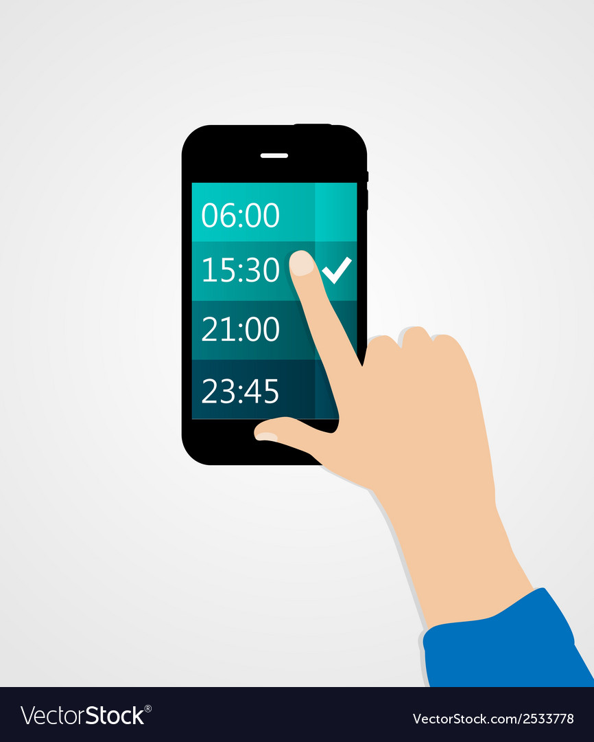 Alarm for different electronic devices concept vector | Price: 1 Credit (USD $1)