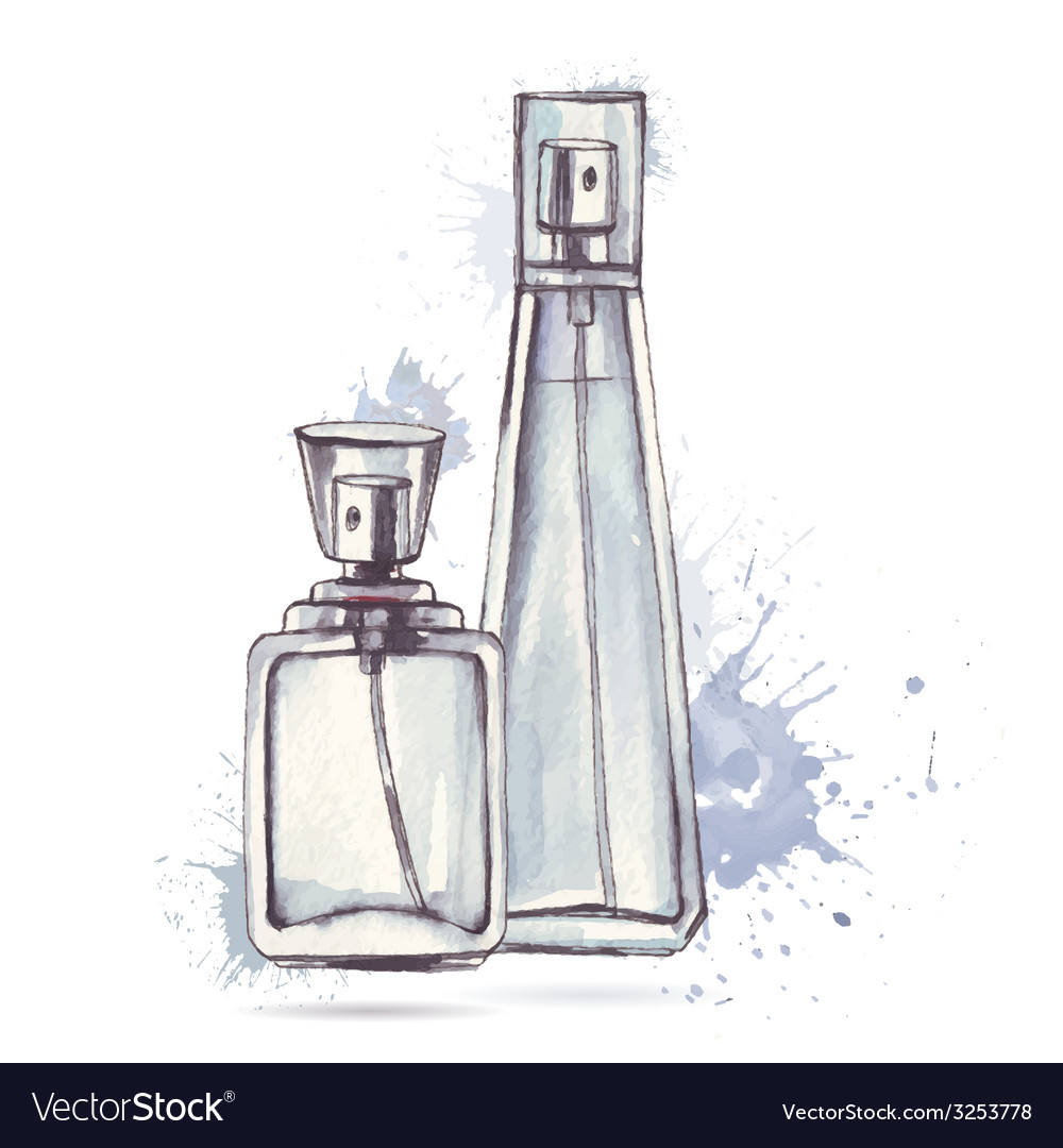 Beautiful perfume bottle vector | Price: 1 Credit (USD $1)