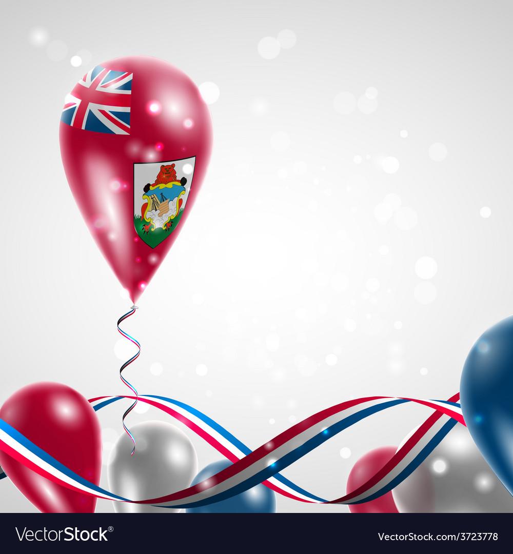 Bermuda flag on balloon vector   Price: 1 Credit (USD $1)