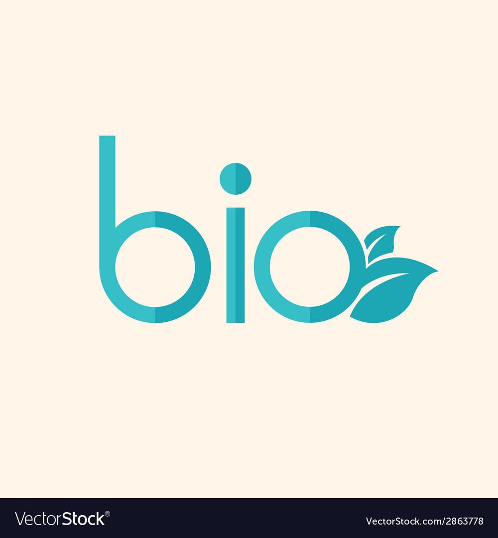 Bio flat icon vector | Price: 1 Credit (USD $1)