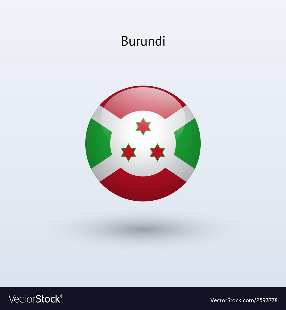 Burundi round flag vector   Price: 1 Credit (USD $1)