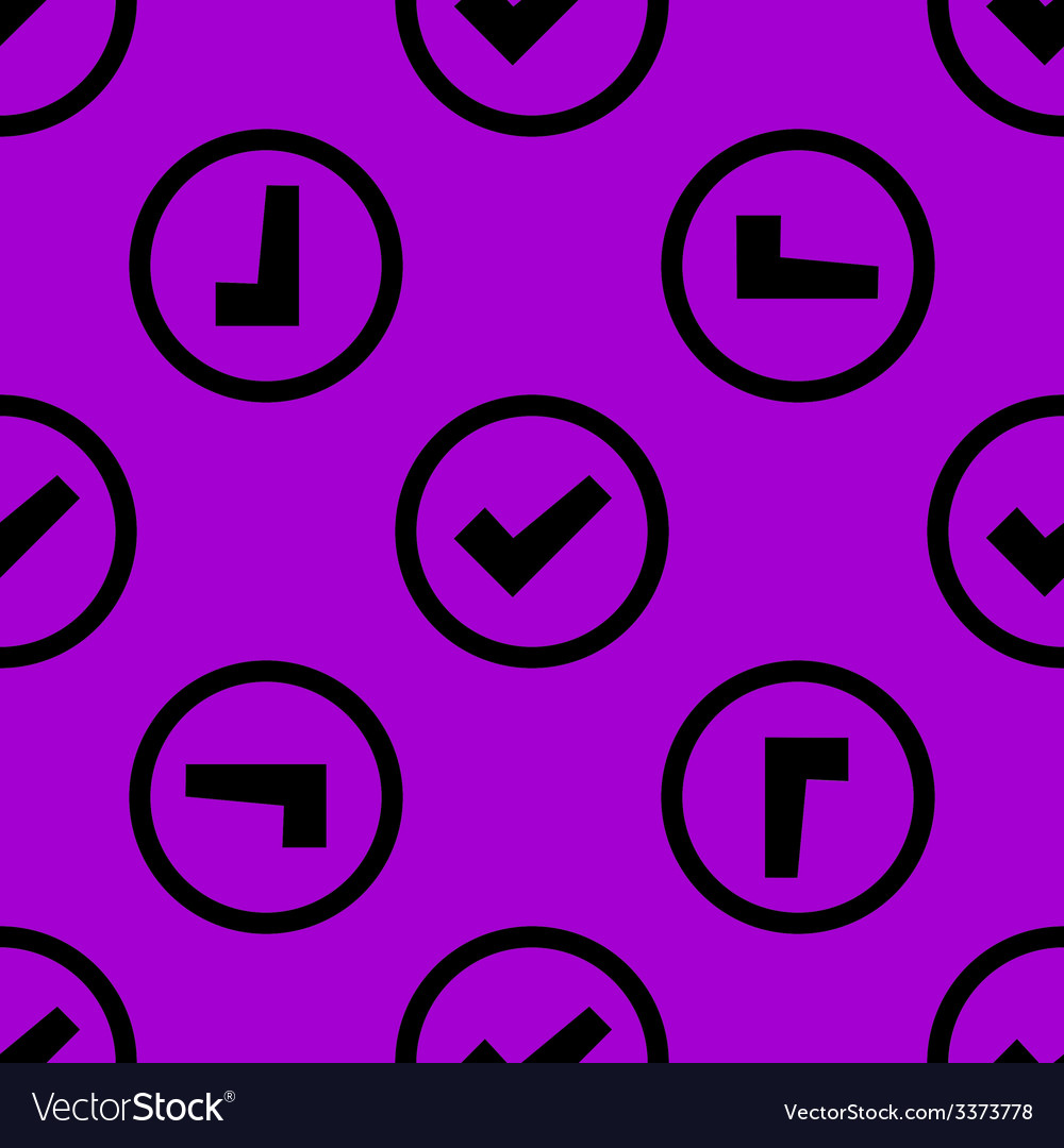 Check mark web icon flat design seamless pattern vector | Price: 1 Credit (USD $1)