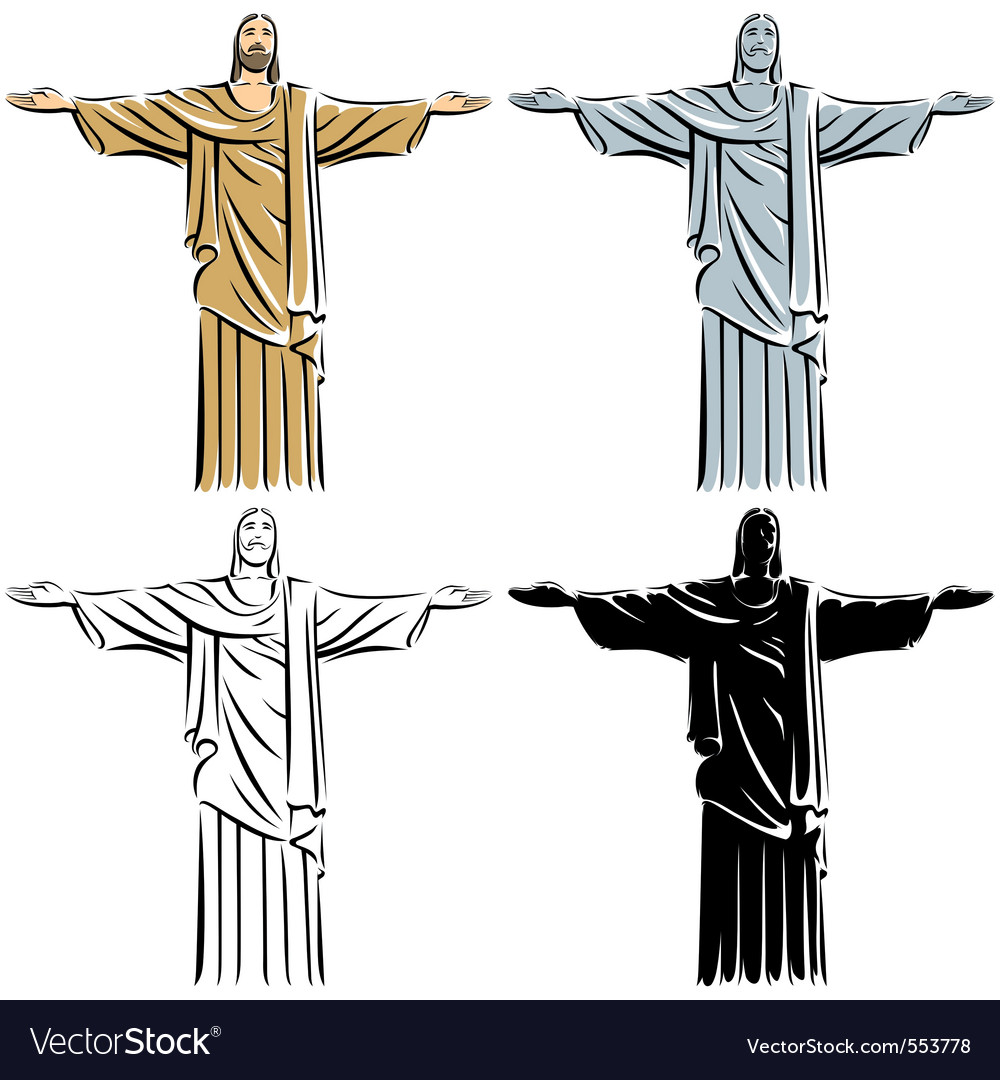 Christ the redeemer vector | Price: 1 Credit (USD $1)