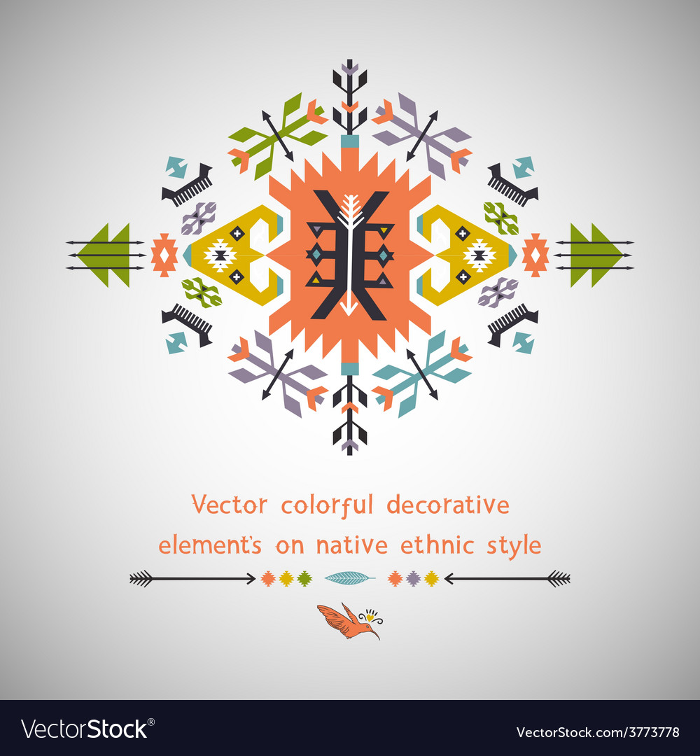 Colorful decorative element on native vector | Price: 1 Credit (USD $1)