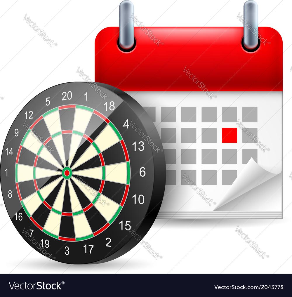 Darts and calendar vector | Price: 1 Credit (USD $1)