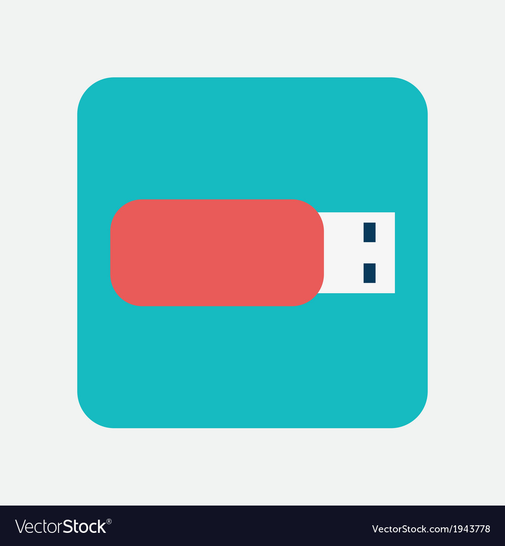 Flash drive icon vector | Price: 1 Credit (USD $1)