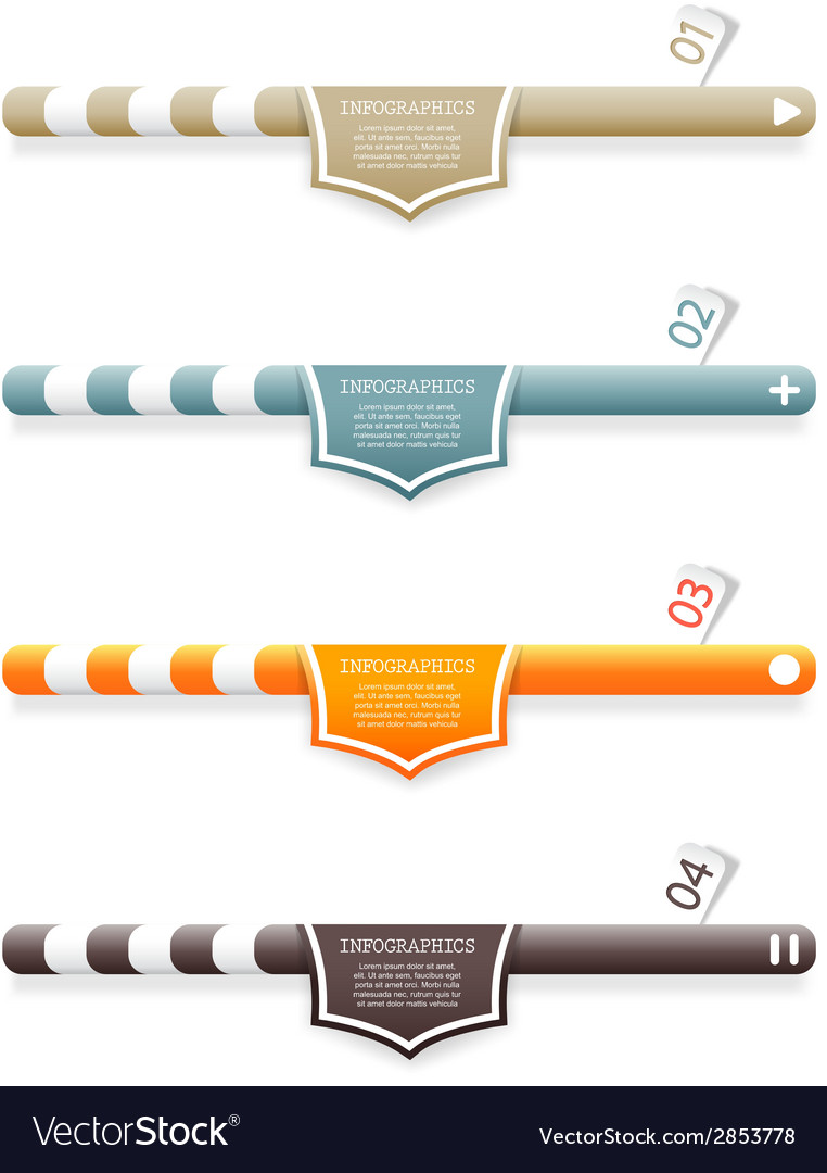 Four colored web banners with place for your own vector | Price: 1 Credit (USD $1)