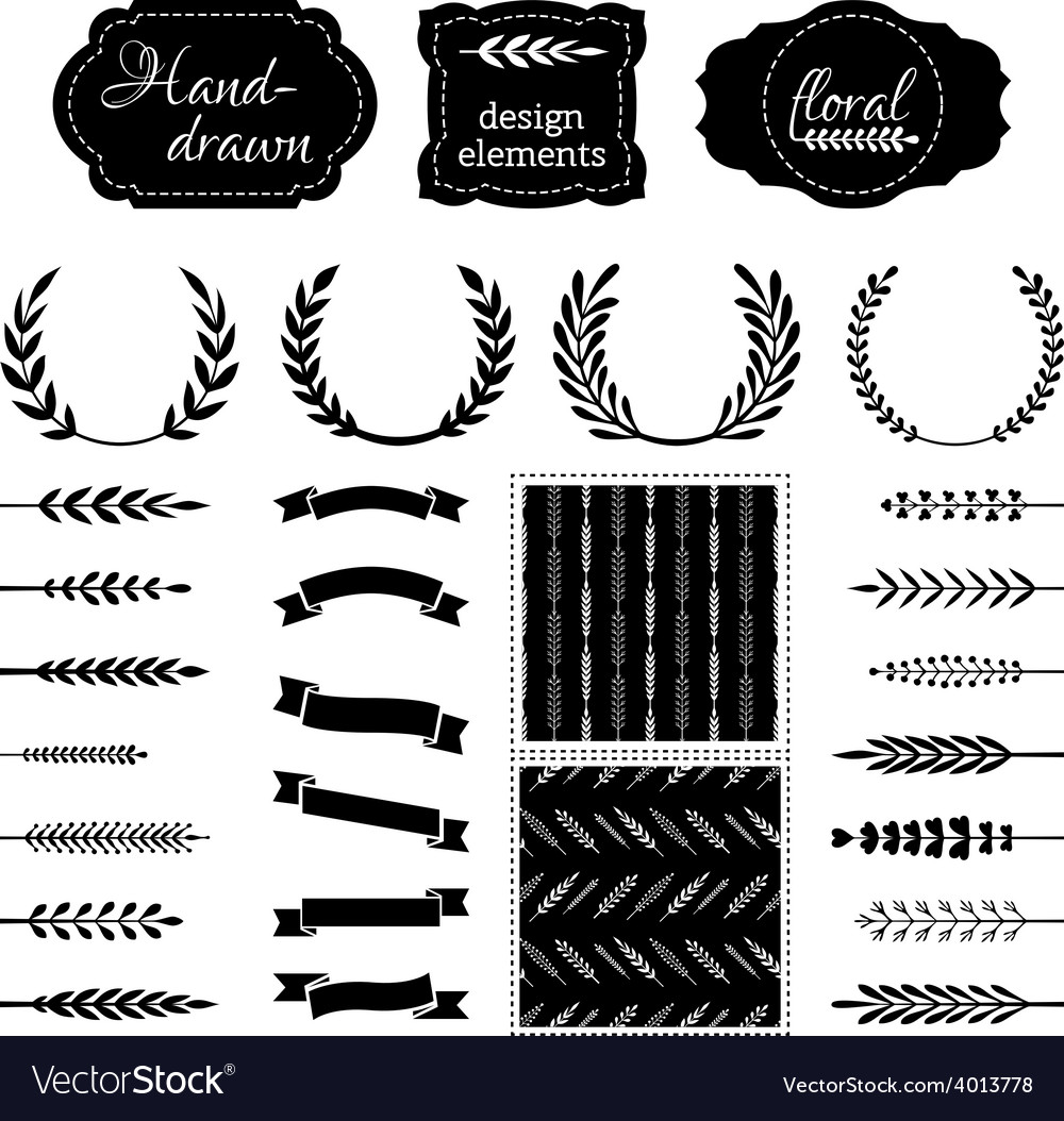 Nature design elements vector | Price: 1 Credit (USD $1)