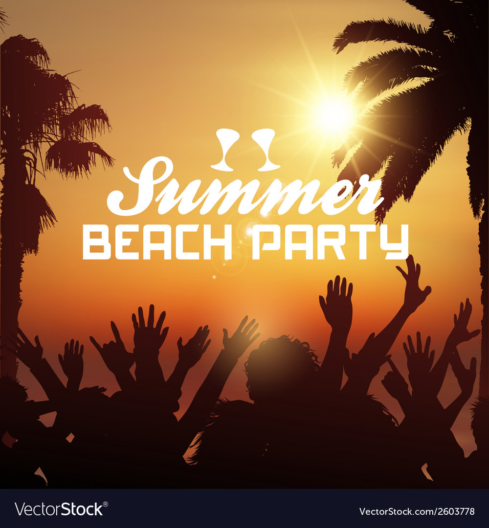 Summer beach party background vector | Price: 1 Credit (USD $1)