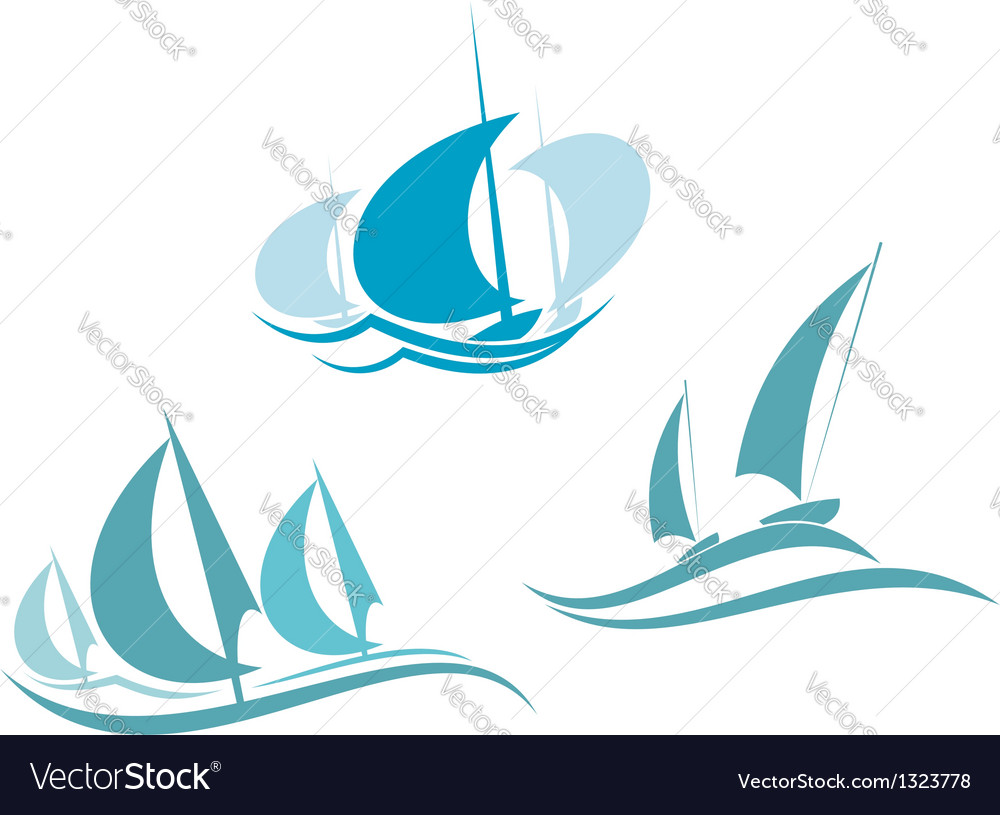 Yachts and sailboats vector | Price: 1 Credit (USD $1)