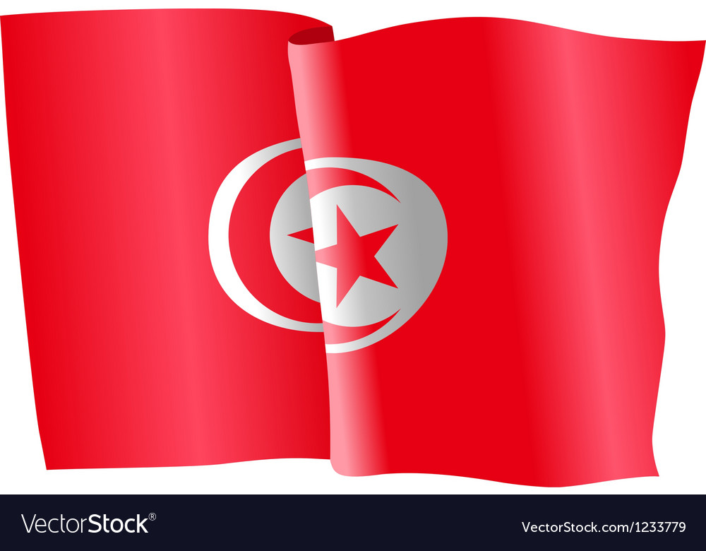 Flag of tunisia vector | Price: 1 Credit (USD $1)