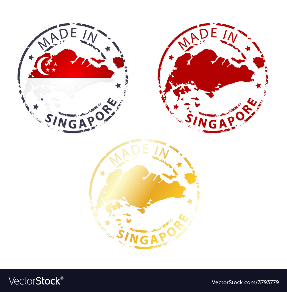 Made in singapore stamp vector