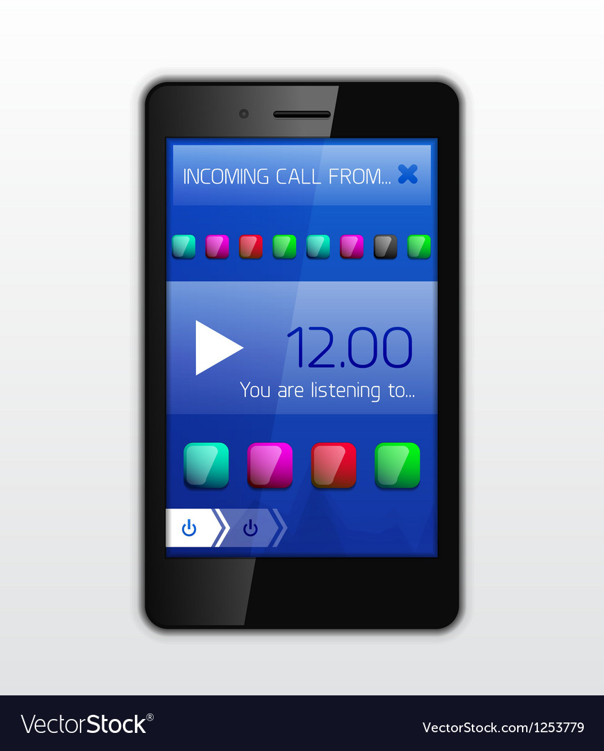 Mobile phone applications concept vector | Price: 3 Credit (USD $3)